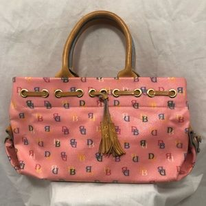 Dooney & Bourke pink handbag purse initial vintage